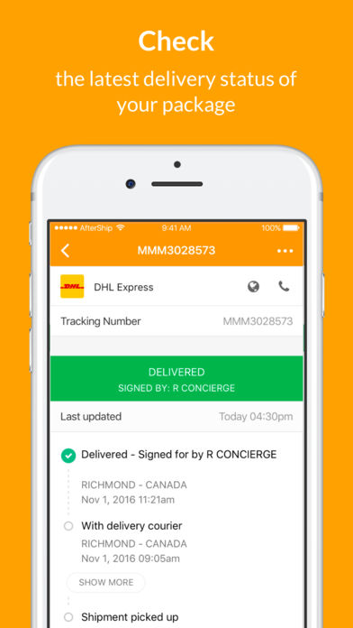 AfterShip: Package Tracker