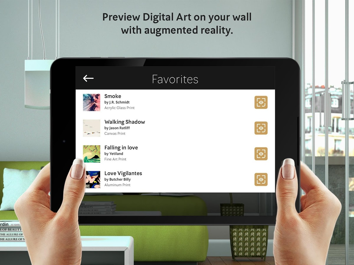 Curioos, Preview Art on Walls