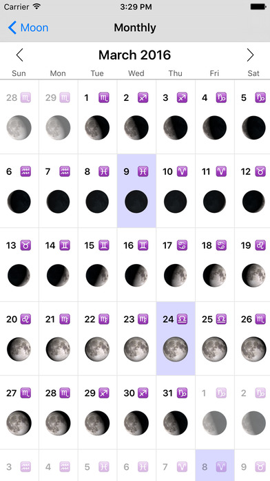Phases of the Moon Pro