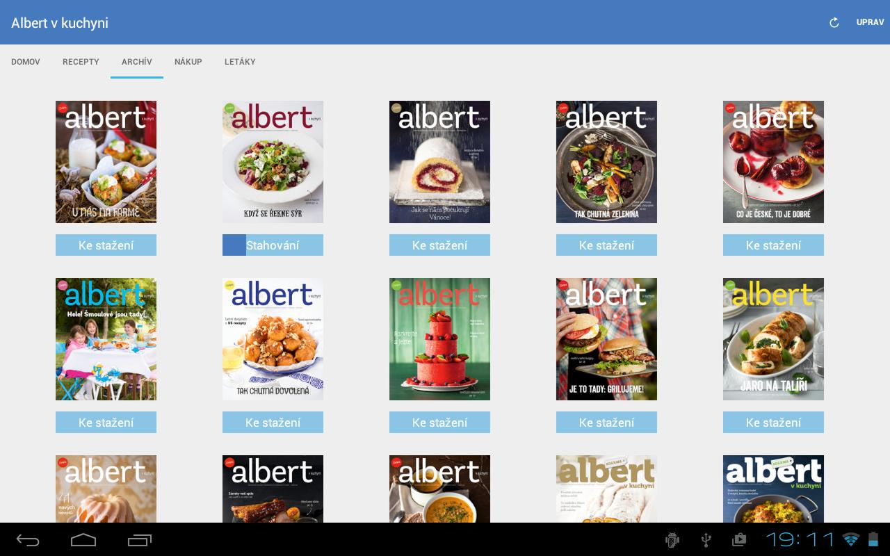 Albert v kuchyni