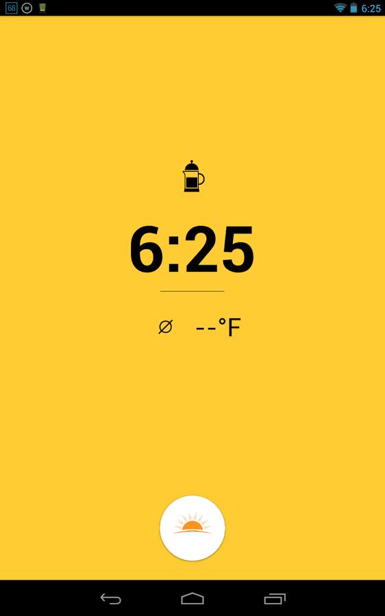 Warmly — An alarm clock