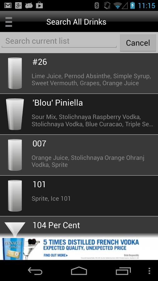Mixology Drink Recipes